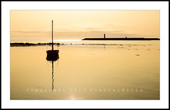 Hazy Fantazy (RonnieLMills) Tags: hazy morning light sunrise water sea reflections yacht donaghadee harbour lighthouse calm waters explore explored 21817 13