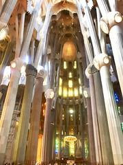 """""""Esbelto"""" (atempviatja) Tags: ciudad sagradafamilia gaudí barcelona basilica mosaicos color pilares esbelto interior luz"""