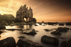 The mask of Sauron (Explore #1) (Anto Camacho) Tags: sunset longexposure bigstopper landscape rock seashore waterscape clouds nature asturias spain water