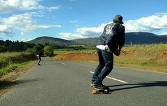 Freedom (Jimi Oertli) Tags: longboarding spring downhill friends skate road bluebird sky blue nature australia victoria 2016