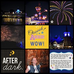 Disneyland after dark = Awesome #theockeysgotodisneyland #projectmouse #projectlifeapp #memorykeeping #disneyland (girl231t) Tags: ifttt instagram 2017 vacation scrapbook layout 12x12layout projectlifeapp affinityphotoapp