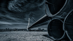 niederrheinbrücke (fotos_by_toddi) Tags: fotosbytoddi voerde niederrhein nrw nordrhein westfalen wolken bridge brücke rhein rhine rheinbrücke rhinebridge wesel kreiswesel sony sonya7 sky sonyalpha7 alpha a7 alpha7 tubes rohre explored