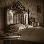 Gettysburg: Wills House - Lincoln's Room in sepia thumbnail