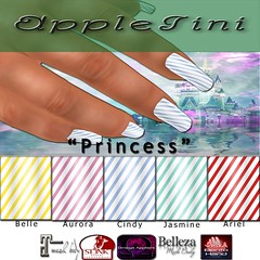 AppleTini Princess Nails (CinnamonApplePie) Tags: fable maitreya belleza slink omega vistabento bento mesh nails nailpolish princess fairytales mani