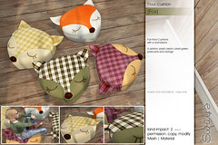 Sway's [Fox] Floor Fushion | FLF (Sway Dench / Sway's) Tags: flf fiftylindenfriday sways virtual home garden pillow floor cushion fox