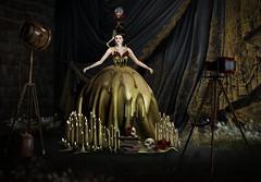 SL Fierce October 2017 (DAKOTA LAVAROCK) (2ND RUNNER UP MMI 2017) Tags: antique bones books camera candles gothic gown irrisistibleshop light roses skeleton skulls wax fashion artphotography storybookphoto