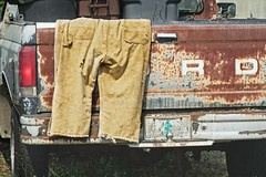Too Hot for Pants 3550 B (jim.choate59) Tags: ford fordtruck truck coveralls pants hot hotsummerday hotday workclothes rust rusty rustycar jchoate summer d610 on1pics