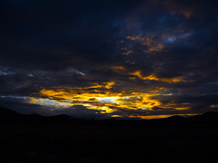 Evening Gathering Storms. (Woodypug) Tags: sunset williams arizona colors stormy sky beauty heaven lightshow
