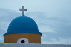 _A7C0958 copy 2 (catchapman44) Tags: architecture blue bluedomes bluesky church churchcross cycladesislands europe greece greekislands idyllic landscape outdoors relaxation santorini summer tranquil tranquility travel type white whitebuildings yellow