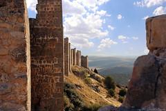 Muralla fortaleza de Gormaz (Luis DLF) Tags: muralla fortaleza gormaz soria sol nubes cielo ladera llanura españa califal medinaceli roca piedra canon europa medieval castillo defensa cristianos