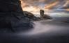 Portizuelo (Asturias, Spain) (Tomasz Raciniewski) Tags: portizuelo asturias sunset atardecer roca mar sea seascape landscape luarca cantabrico ocean outdoor shore costa coast sand le haida 1020 sigma d3200 nikon