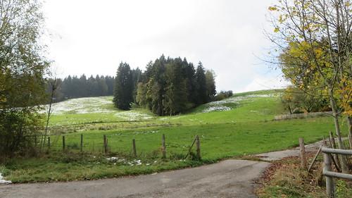 First snow of the trip, Krummengraben, Bavaria