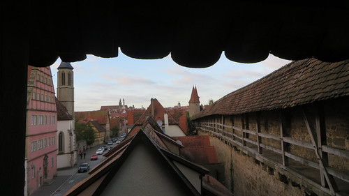 On the old city wall, Rothenburg ob der Tauber