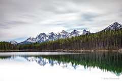 a time to reflect (john dusseault) Tags: canada alberta hebertlake reflection water banffnationalpark mountains