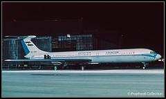 SU-ARX / ZRH? 1973 (propfreak) Tags: propfreak propfreakcollection slidescan zrh lszh zurich kloten suarx ilyushin il62 egyptair cccp86675 aeroflot ra86675 krasair csa