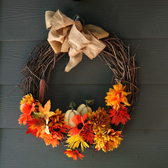 That Time Of Year Again (redhorse5.0) Tags: fall fallleaves fallwreath decoration flowers redhorse50 sonya850 seasonaldecoration yelloworangered