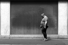 In front of the black window (pascalcolin1) Tags: paris13 homme man big gros fenêtre window black noir photoderue streetview urban urbanarte noiretblanc blackandwhite photopascalcolin