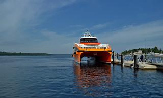New catamaran before departing to Konevitsa island.