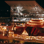 USSR and Thailand pavilions at night at Expo 67 / Pavillons de l'URSS et de la Thaïlande le soir, Expo 67 thumbnail