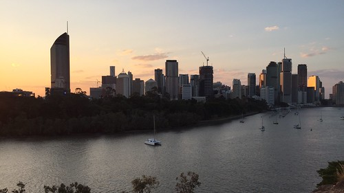 Sunset over Brisbane River, Queensland
