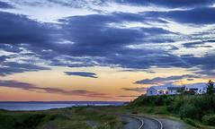The End (Danny VB) Tags: end day sunset granderivière gaspésie québec canada coucher soleil summer été train houses ocean atlantic canon 6d dannyboy
