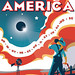 Eclipse Across America Red-White-and-Blue Poster