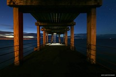 Shades of Shinto (john&mairi) Tags: shinto arch wooden pier west whitby harbour yorkshire coast sea seaside anglers fishermen ladder headtorch beam floorboard horizon sky uk concrete