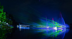 Laser-show (ralph_behrens) Tags: minden nrw dasblauebandderweser germany weser deutschland olympus oly mzuiko8mmf18pro 8mmf18pro omdem1markii omdem1mkii omd sommer 2017 laser show nightimage