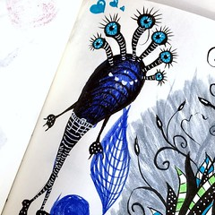Creature with fancy pants (borianag) Tags: creature character drawings drawing inkdrawing ink monsters monster doodles doodle sketches illustrations illustration ifttt instagram