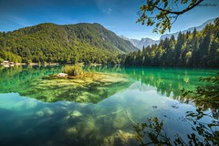 Lago Di Fusine - Mangart Lake in Summer (zkbld) Tags: lago fusine mangart lake summer belapec weissenfels tarvisio valcanale friuli italy italia julian alps centraleurope europe jezero water tree forest green blue reflection mirror sky color mountain hill travel location tourism sport walk relaxation recreation preservation ecology heritage nature landscape landmark hdr pond spring source well