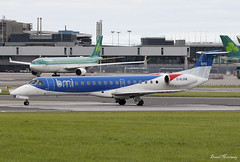 BMI Regional ERJ-145 G-RJXM (birrlad) Tags: dublin dub international airport ireland aircraft aviation airplane airplanes airline airliner airways airlines taxi taxiway takeoff departing departure runway grjxm embraer erj145mp e145 bmi regional midland