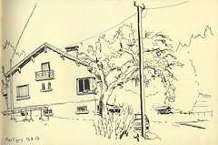 Piscicullture du Frais Baril - Xertigny, Vosges (lolo wagner) Tags: croquis sketch usk urbansketchers lorraine vosges