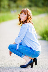 Océane (jdu.photo) Tags: woman girl french frenchgirl redhead redhair freckles outdoor outside f12 85mm canon50d 50d pretty beautiful longwy blueeyes bokeh