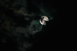 Cloudy moon (In Explore 08/25/2017)