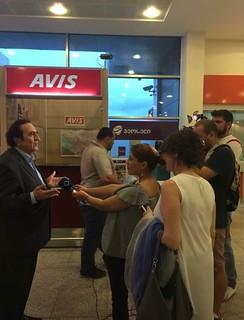 Michel Sogny TV géorgienne Batumi Airport 31 Août 2017