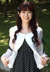 Being Happy Never Goes Out (emotiroi auranaut) Tags: woman lady lovely happy happiness pretty cute adorable beauty beautiful fetching attractive nice cheerful fashion style birthday face hair park japan asia japanese asian singer idol polkadots