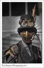 Steampunk Fantasy (Paul Simpson Photography) Tags: lincoln steampunkfestival steampunk steampunks asylum facemask dressedinblack man streetphotography feather tophat paulsimpsonphotography imagsof imageof photoof photosof tie maninashirtandtie lincolnshire august2017 sonya77 sonyphotography sonycameras goggles cosplay makeup dressingup fancydress wayoflife