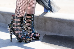 Staggering (hehaden) Tags: shoes heels high black fishnet steampunk festival seafront eastbourne sussex trebleclef