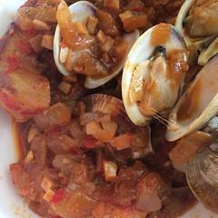 Porco à Alentejana (Braised Pork and Clams) (htomren) Tags: phonepics food clams
