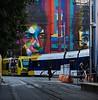 Bobspotting (TwinCitiesSeen) Tags: minnesota minneapolis twincities twincitiesseen canon6d tamron2875mm mural bobdylan train lightrail people