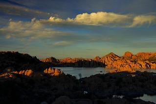 Sunset over Watson Lake near Prescott, Arizona
