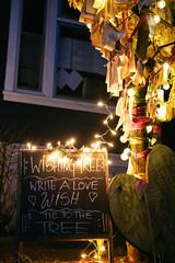 Wishing Tree (Dubamatic) Tags: wishing tree lights portland oregon neighborhood