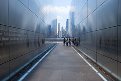 Never Forget (cvillandry) Tags: newjersey memorial 911 nyc manhattan emptyskymemorial