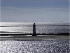 New Brighton lighthouse (Luc V. de Zeeuw) Tags: beach lighthouse newbrightonlighthouse windturbine windturbines unitedkingdom