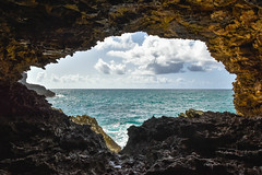Cave Calm (Dave Cool Britannia) Tags: barbados storm hurricane 2017 sea cave light water waves rock animalflowercave video music landscape seascape rihanna atlantic ocean caribbean