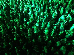 Green men (minimi007) Tags: 2017 applaus audience bühne concert diefantas diefantastischenvier fairandexhibitioncenter frankfurt frankfurtammain greenlight hall icloud iphone6plus konzert lichtshow lightshow live menschenmenge messehalle onstage people publikum rappers
