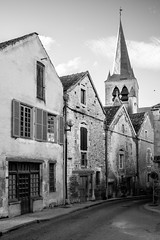Lost in a small french village (MarxschisM) Tags: black white france les riceys village countryside old houses church