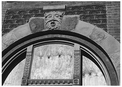 Melancholy Dreams Of Midnight (swanksalot) Tags: blackandwhite bw wickerpark architecture detail tweeted window
