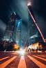 The Digital City, Shanghai (Todd Danger Farr) Tags: shanghai shanghaitower city digital lights citylights nightlights longexposure movingclouds clouds sky china explore travel