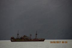 Barco encayado (pascualmat) Tags: encallado oxidado rusty aground ship pasado past